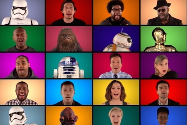 Watch the 'Force Awakens' Cast and Jimmy Fallon Sing an A Cappella Version of 'Star Wars' Theme Song