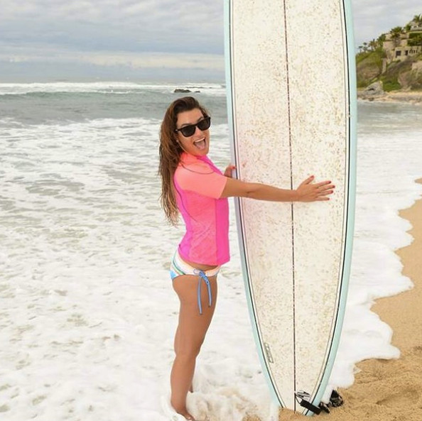 She likes to surf.