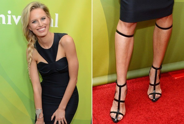 Karolina Kurkova Wears a Futuristic LBD and Possibly the Coolest Heels Ever