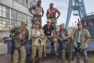 6 Points of Interest in This Behind-The-Scenes Photo from 'The Expendables 3'