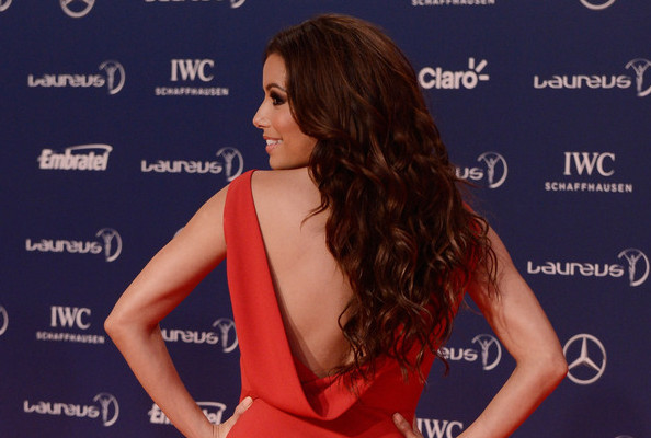 Eva Longoria's Fiery Red Gown
