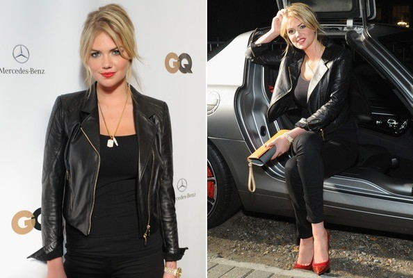 Kate Upton's Cool Leather Look