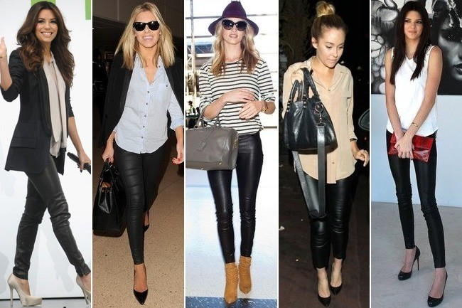 Hollywood Can't Quit Leather Leggings