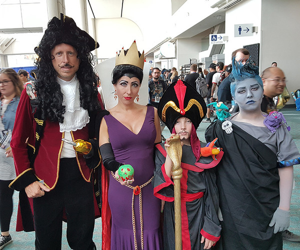 Captain Hook, The Evil Queen, Jafar, and Hades