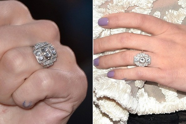 Scarlett Johansson Shows Off Her Baby Bump Giant Diamond on the Red