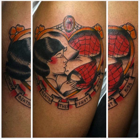 Old School Spider Man Marvel Tattoos Thatll Make You Want To Be