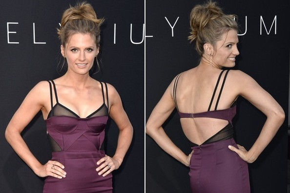 Do You Like Stana Katic's Lingerie Inspired Dress?