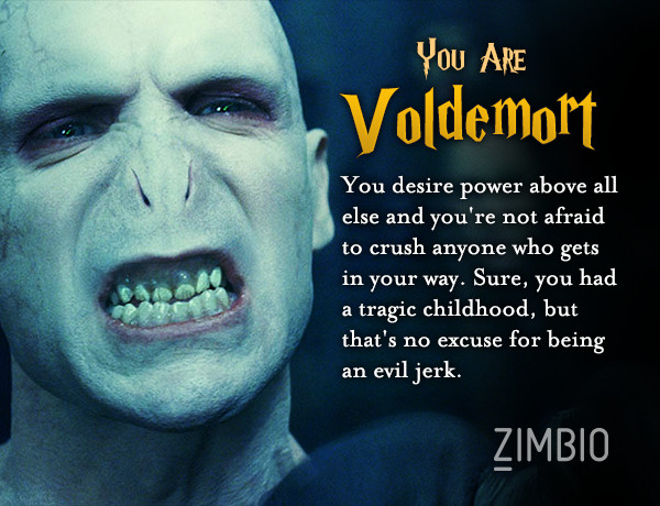 voldemort which 39 harry potter 39 character are you zimbio. Black Bedroom Furniture Sets. Home Design Ideas