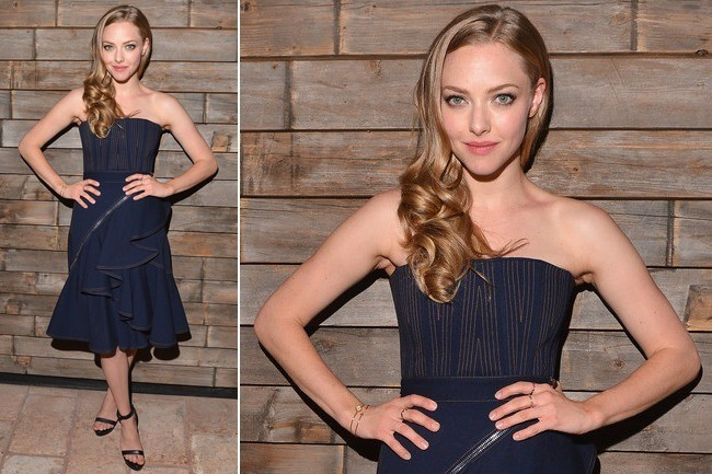 Amanda Seyfried Pulls Off Denim Ruffles on the Red Carpet