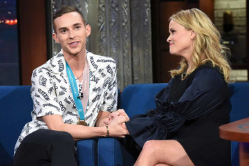 Reese Witherspoon Meeting Olympic Hero Adam Rippon On 'The Late Show' Is Everything You Need Today