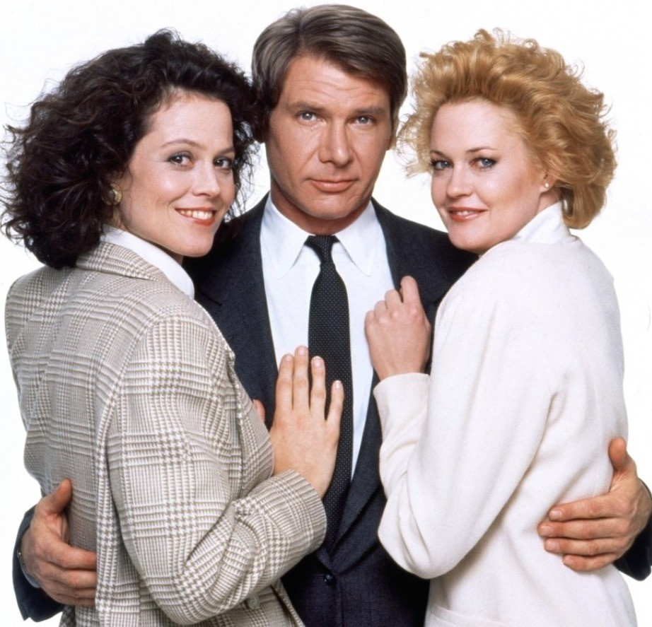 Sigourney Weaver, Harrison Ford, and Melanie Griffith in Working Girl. (20th Century Fox)