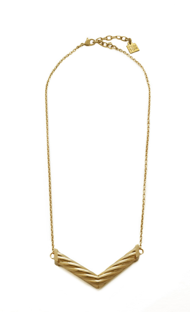 Daily Deal: Jessica Alba's Gold Chevron Necklace