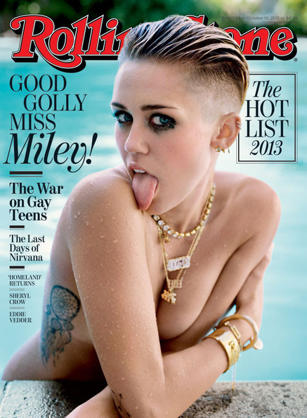 Miley Cyrus Ditches Clothes for 'Rolling Stone,' Bras Are Banned on 'Girls,' and More