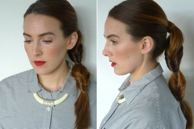 Hair DIY: Double Wrap, Topsy Ponytail