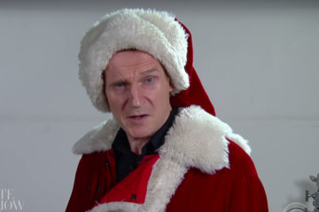 Liam Neeson Proves He's Definitely Not Santa Claus Material