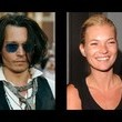 Johnny Depp dated Kate Moss