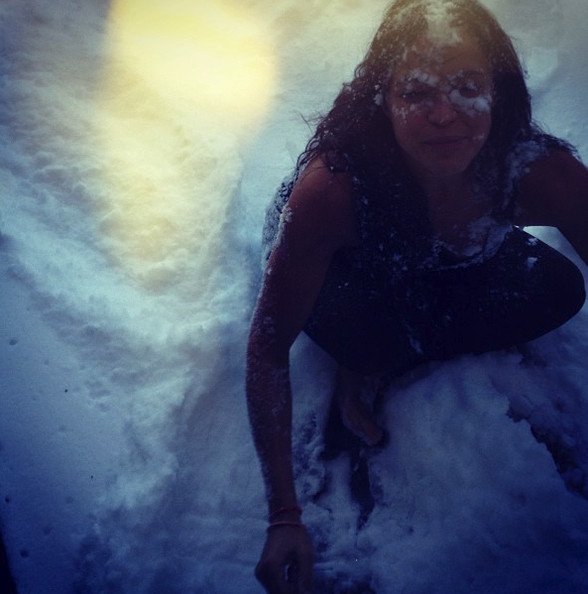 She Likes To Play In The Snow Michelle Rodriguez S Instagram