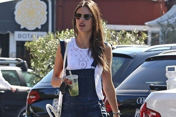 Alessandra Ambrosio Makes Overalls Chic
