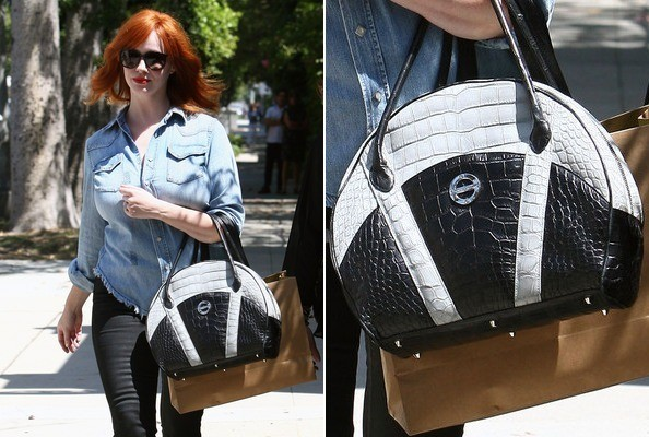 BEHOLD: Christina Hendricks' $23,000 Handbag