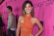 Jessica Szohr's Orange Dress
