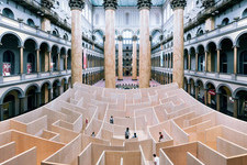 There is Literally a Giant Maze Inside the National Building Museum