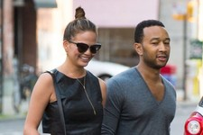 Chrissy Teigen and John Legend Head to Dinner