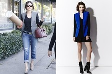 Found: Emmy Rossum's Two-Tone Blazer