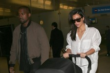 Kim and Kanye Travel in Style