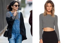 Found: Vanessa Hudgens' Striped Crop Top