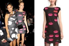 Found: Poppy Delevingne's Lip-Print Dress