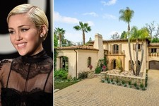 Miley Cyrus's Tuscan-Style Mansion in Los Angeles