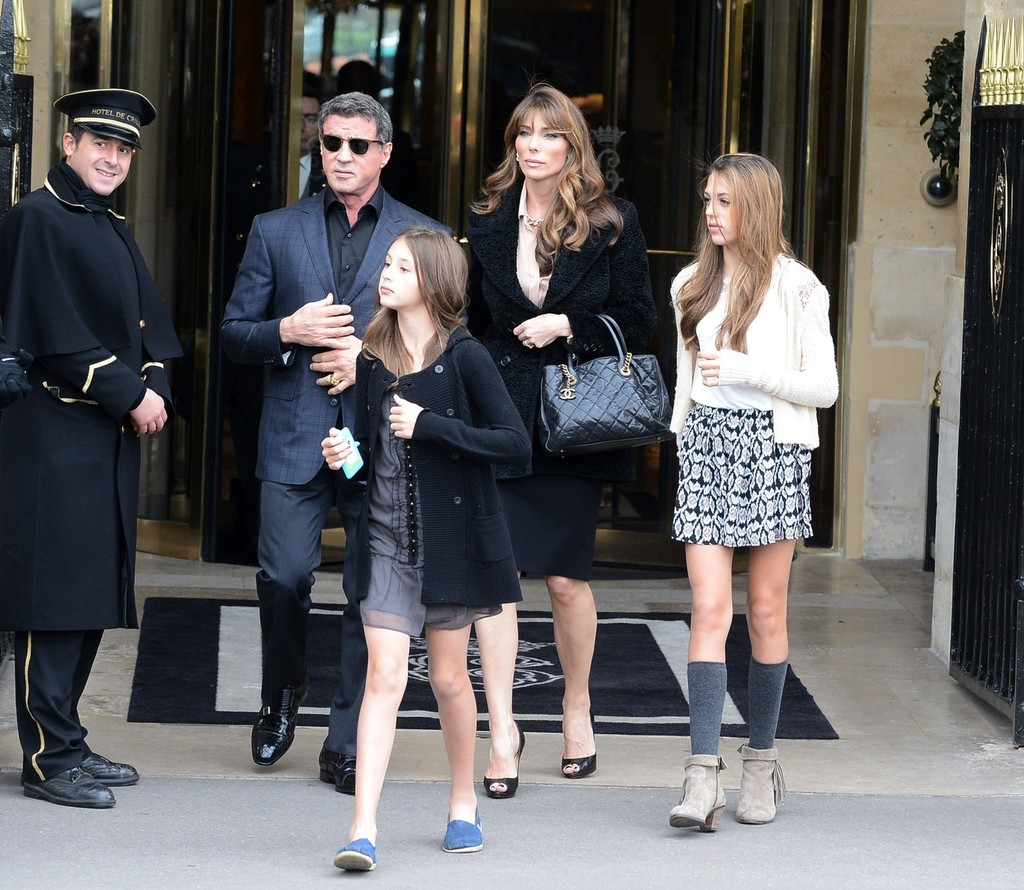 Jennifer Flavin Photos Sylvester Stallone And Family Visit The