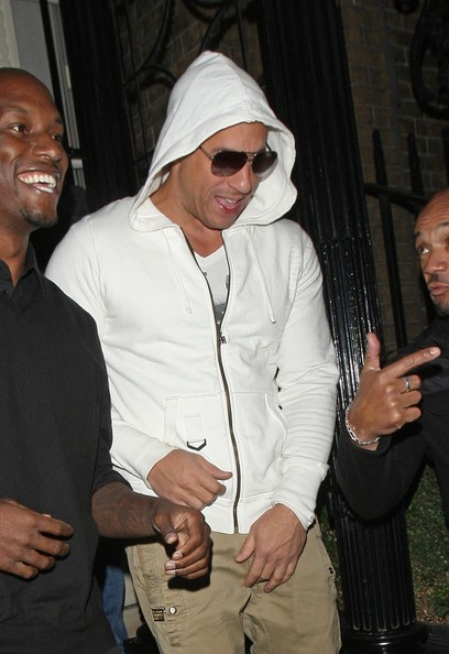 Action star vin diesel seen leaving from the dstrkt night club in