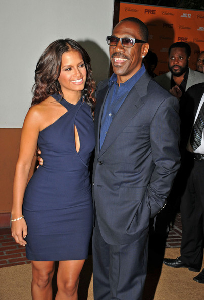 Actor and comedian Eddie Murphy and new girlfriend Rocsi Diaz seen arriving to the BET Pre Dinner at Union Station in Los Angeles.