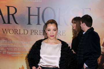"Michael Michelle Actress Celine Buckens walks the red carpet at the premiere of her latest film ""War Horse"" in New York City"