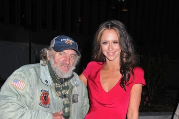 Homeless Man Actress Jennifer Love Hewitt seen posing for photographers whilst leaving an A&E network event at the Lincoln Center in New York