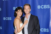 Cobie Smulders and Neil Patrick Harris attends the 2011 CBS Upfront at Lincoln Center.