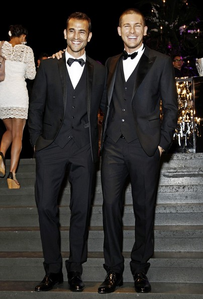 Ivan Olita seen attending a Dolce & Gabbana fashion party at the Men's Fashion Week in Milan, Italy