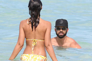 Adrian Bellani Emmanuelle Chriqui Rocks a Yellow Bikini — Part 2