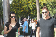 Victoria's Secret model Adriana Lima and husband Marko Jaric meet on Lincoln Road in Miami Beach, after Adriana leaves her Macbook Air at the Apple store for repair.