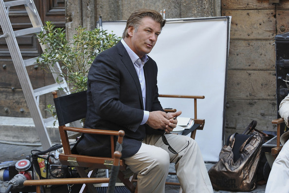 "Cast and crew spend another day shooting scenes for the new Woody Allen film ""The Decameron Bop"" in Rome, Italy.  Alec Baldwin joined the star-studded cast in Italy along with Carol Alt, who turned her own camera on the photographers on set."