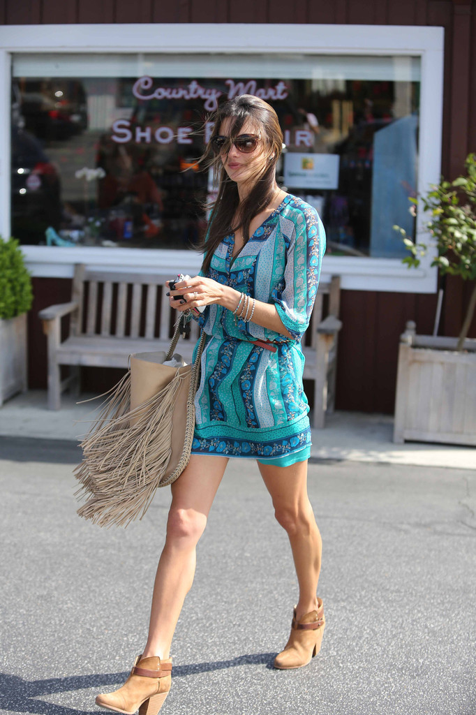 Alessandra Ambrosio seen at Brentwood Country Mart.