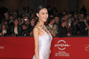 Qin Shu Pei seen attending the 'Bullet To The Head' premiere during the 7th Rome Film Festival at Auditorium Parco Della Musica in Rome.
