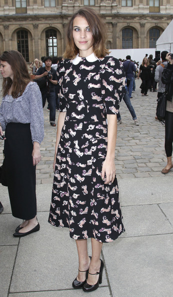 Alexa Chung - Nicole Richie na Paris Fashion Week