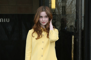 Alice Englert Arrivals at the Miu Miu Fashion Show 4