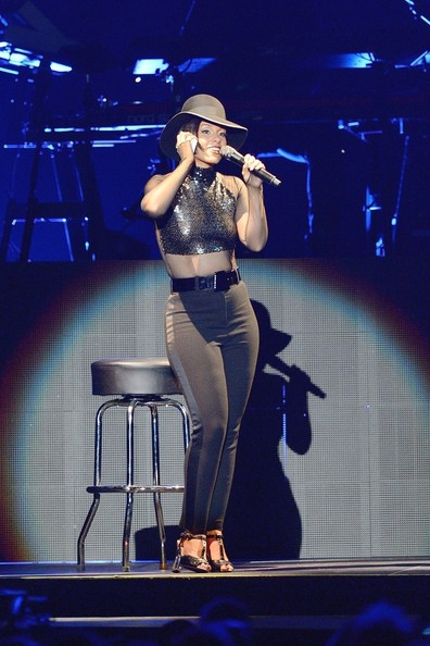 Alicia Keys performs live at Bercy in Paris.