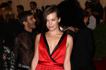 Mila Jovovich Celebs at the Costume Institute Benefit Gala 2012 at The Met