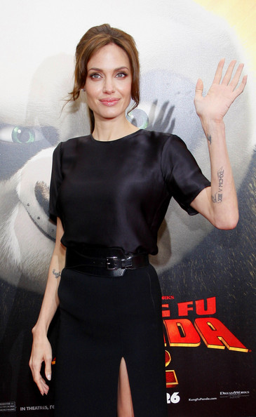 "Angelina Jolie attends the Los Angeles premiere of ""Kung Fu Panda 2"" held at the Grauman's Chinese Theater, Los Angeles."
