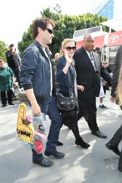 Anna Paquin and Stephen Moyer at the Staples Center