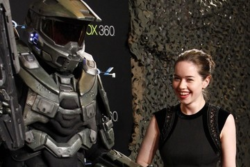 Anna Popplewell Tom Green and Anna Popplewell at the Halo Premiere